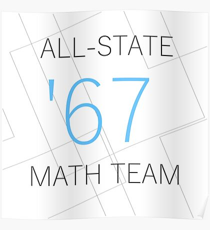 All-State Math Team Poster