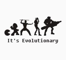 It's Evolutionary (with text) Baby Tee
