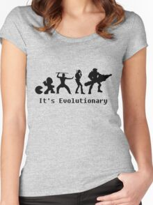 It's Evolutionary (with text) Women's Fitted Scoop T-Shirt