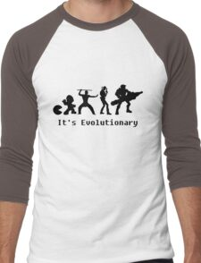 It's Evolutionary (with text) Men's Baseball ¾ T-Shirt