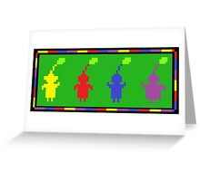 Pixel Pikmin Greeting Card