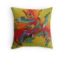 """Intrepid"" original abstract artwork Throw Pillow"