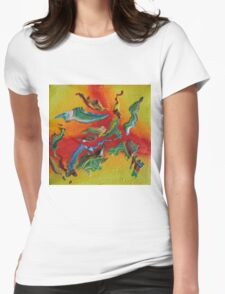 """""""Intrepid"""" original abstract artwork Womens Fitted T-Shirt"""