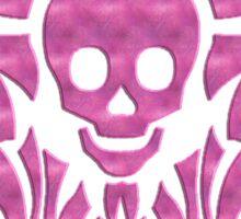 skull tattoo pink Sticker