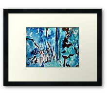 Turquoise Forest Framed Print