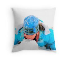 Eating the Snow in  Las Vegas!... Throw Pillow