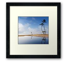 A Bride In Paradise Framed Print