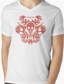 skull tattoo orange Mens V-Neck T-Shirt