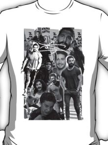 Shia Labeouf B&W Collage T-Shirt