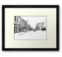 Bentonville, Arkansas Square - 1914 Framed Print