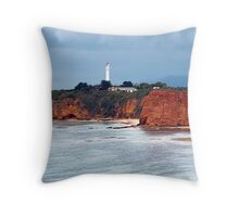 Split Point Lighthouse (2), Aireys Inlet, Great Ocean Road Throw Pillow