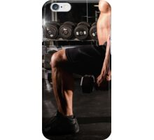 Guy doing lunge with weight iPhone Case/Skin