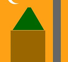 Abstract Poster - The Mosque Minaret and Crescent by Adam Asar