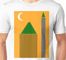 Abstract Poster - The Mosque Minaret and Crescent Unisex T-Shirt