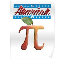 As American as Apple Pi - Cool Math Poster