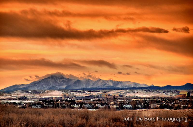 Orange Skies Over Pike's by John  De Bord Photography