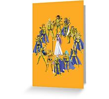 Gold Saints and Athena Greeting Card