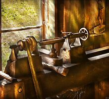 An Old Lathe by Mike  Savad