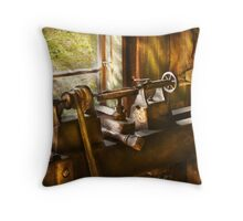 An Old Lathe Throw Pillow