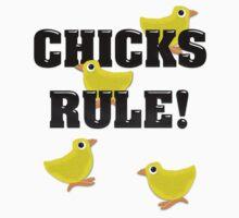 Chicks Rule! One Piece - Long Sleeve