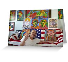 vincent,s brother,walt Greeting Card