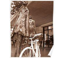 Memorial to Fallen Cyclist Poster
