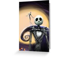 Jack Skellington Nightmare Before Christmas Greeting Card