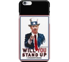 """Will You Stand Up"" Stand With Rand Paul 2016  iPhone Case/Skin"