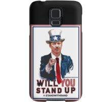 """""""Will You Stand Up"""" Stand With Rand Paul 2016  Samsung Galaxy Case/Skin"""