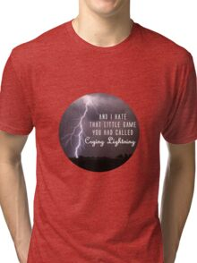 crying lightning Tri-blend T-Shirt