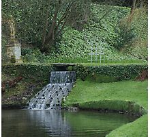Garden in Spring at Watermouth Castle Coombe Martin North Devon UK Photographic Print