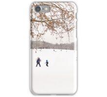 Winter scene outside in the snow iPhone Case/Skin