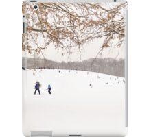 Winter scene outside in the snow iPad Case/Skin
