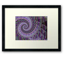 The purple spiral Framed Print