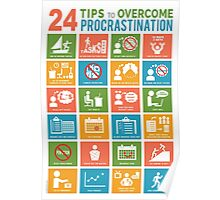 24 TIPS TO OVERCOME PROCRASTINATION Poster