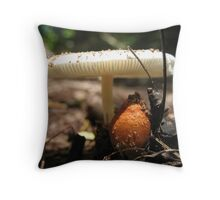 In the shade of a shoom Throw Pillow