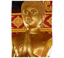 Gold Buddha Wai Poster