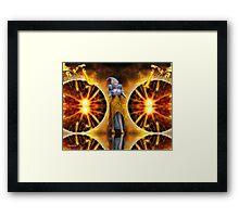 2 worlds Framed Print