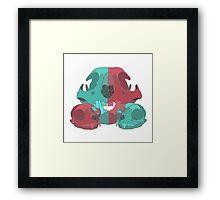 Cat Skull X3 Framed Print