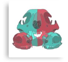 Cat Skull X3 Canvas Print
