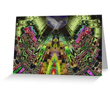 The Aztek temple Greeting Card