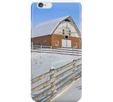 Snowy Brick Barn iPhone Case/Skin
