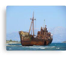 Rustic Boat Canvas Print