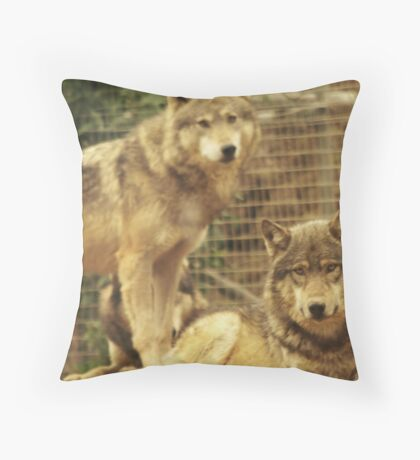 Big Bad Wolves Throw Pillow