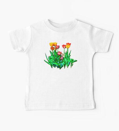 Tulips and a Hyacinth Baby Tee