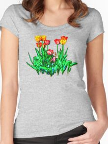 Tulips and a Hyacinth Women's Fitted Scoop T-Shirt