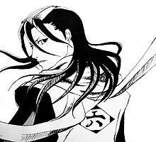 Byakuya Kuchiki Bleach Anime by Renata Ilciukaite