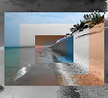 Sleeping Bear Dunes Abstract by mnkreations