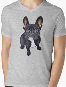French Bulldog Mens V-Neck T-Shirt
