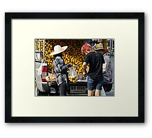 Orange Truck Framed Print